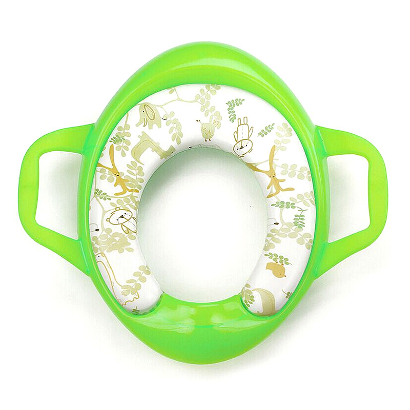 Eco-friendly Baby Potties Soft Toilet Training Seat Children Trainer With Handle WC Assistant Potty Toilet Pad for Kids Child image