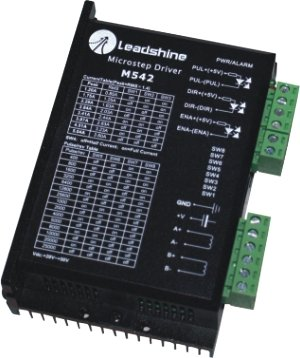 New Leadshine 2-phase microstepping Drive M542 work at 24-50 VDC output 1.0A to 4.2A Current fit for stepper motor NEMA 23 cnc 2 phase stepper motor and drive m542 86hs45 4 5n m new