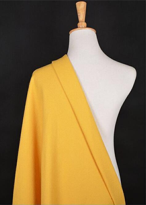 Fashion Yellow twill wool cashmere fabric dress coat ,printing Textile hollandais african sequin Christmas cloak fabric A114
