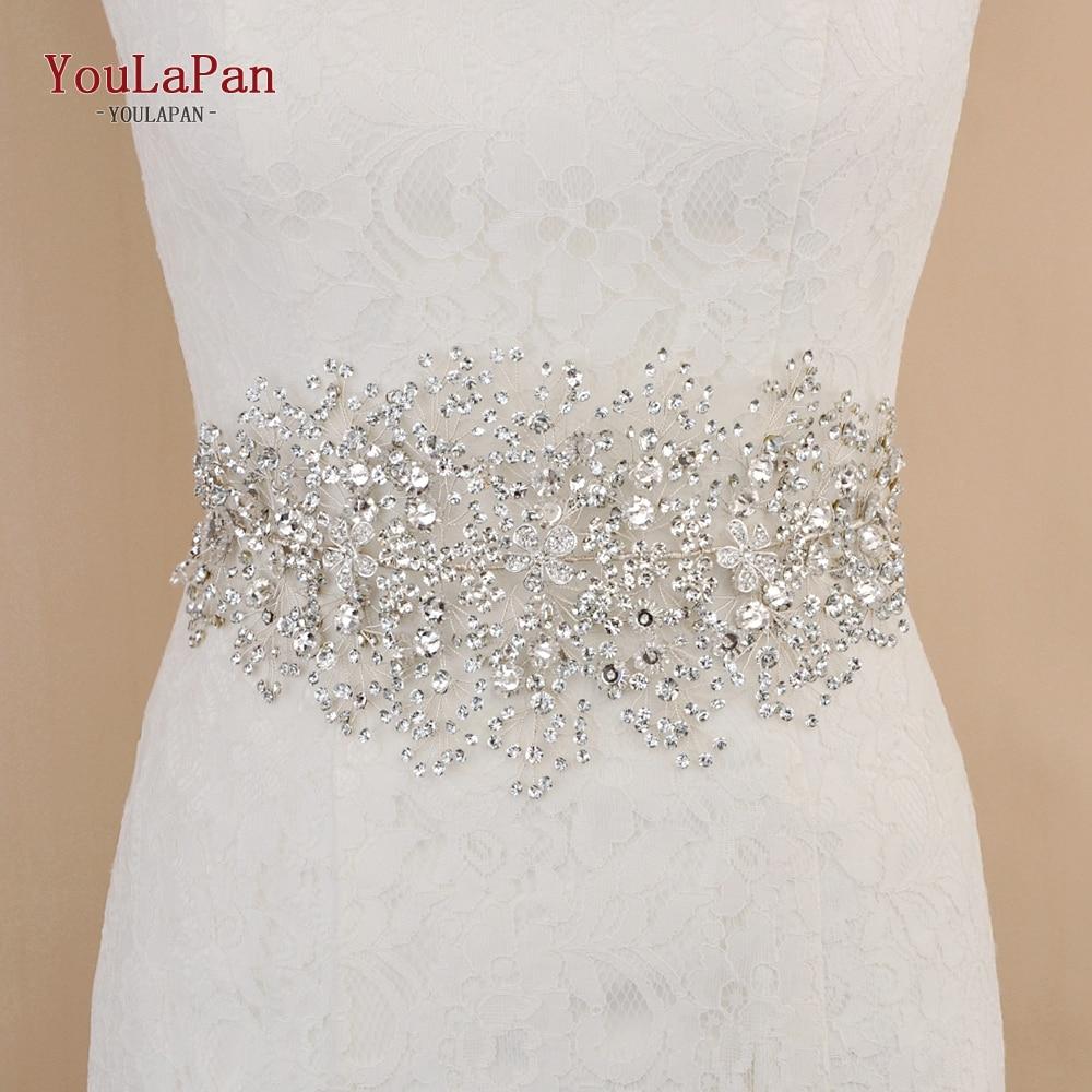 YouLaPan SH240 Wedding Dress Belt Rhinestone Belt For