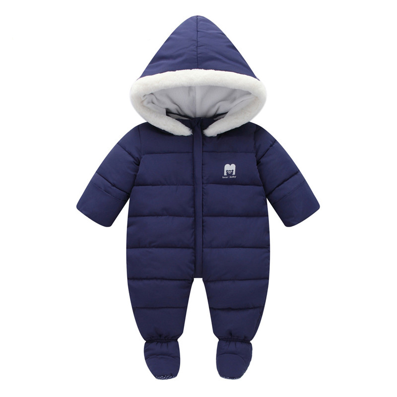 Baby Boy Girl Clothes Winter Soft Duck Down Coat Warm Solid Hooded Jacket Long Sleeve Coverall Hooded Infant Jumpsuit Snowsuit colorvalue winter double zipper running jacket women hooded fitness coat long sleeve sport yoga coat with pocket and thumb holes