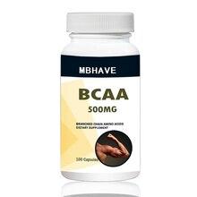 BCAA 2:1:1, cadena de rama de alta calidad, Amino multifunción, 100 Uds
