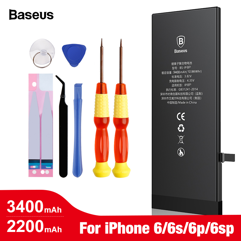 <font><b>Baseus</b></font> Mobile Phone Battery For <font><b>iPhone</b></font> <font><b>6</b></font> <font><b>6s</b></font> s Plus Replacement Batterie High Capacity Internal Bateria For <font><b>iPhone</b></font> 6plus image
