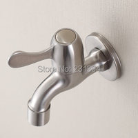 Into The Wall SUS304 Stainless Steel Faucet Washer Mop Pool Single Cold Water Tap Water Mouth