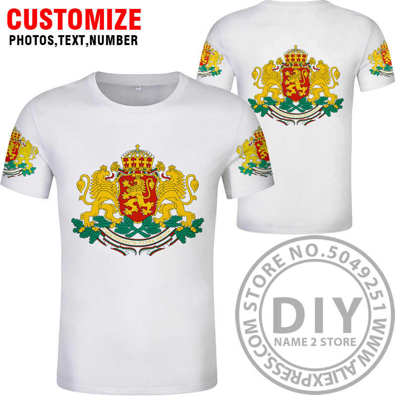 Болгарийская футболка, сделай сам, Бесплатная, на заказ, с именем, номером bgr, футболка страны, флаг страны, bg, болгарский черный, для колледжа, принт, фото, одежда