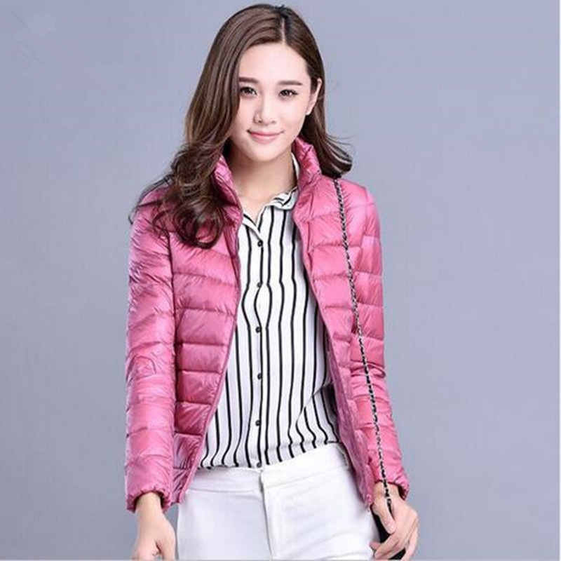 XMY3DWX new Fashion women keep warm Super light thin 90% White duck   down     down   jacket/Women stand collar Casual   down     coat   S-XXXL