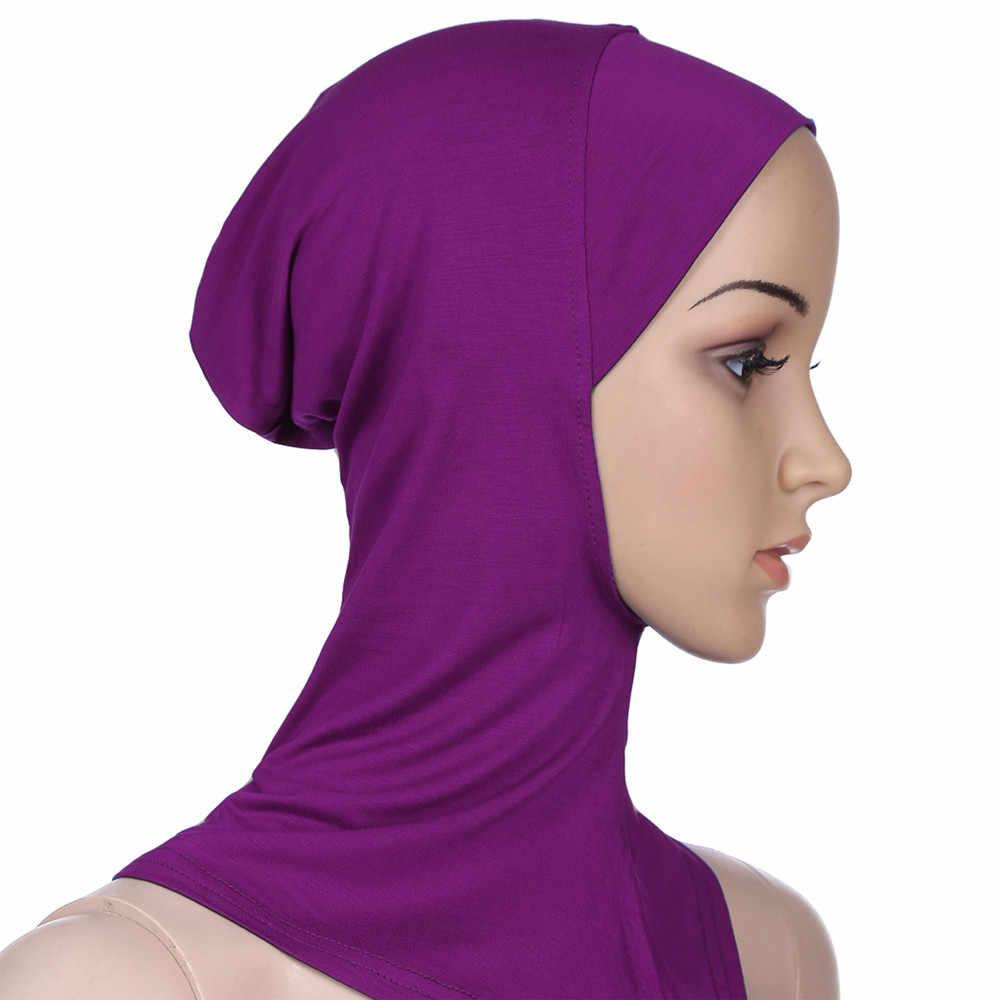 Мусульманские Эластичный Тюрбан Женская головная повязка рюшами Рак Chemo волос шапки бини банданы шарф для головы головные уборы спортивная одежда с капюшоном HX0506