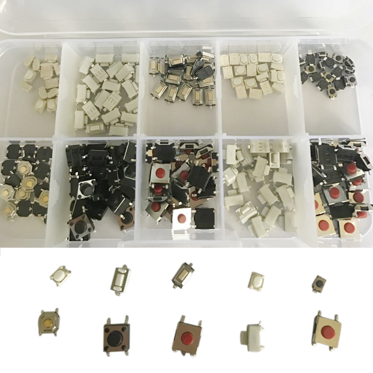 200pcs New Micro Switch 10 Types Remote Control Key SMD SMT Switch Microswitch For TV Audio Equipment
