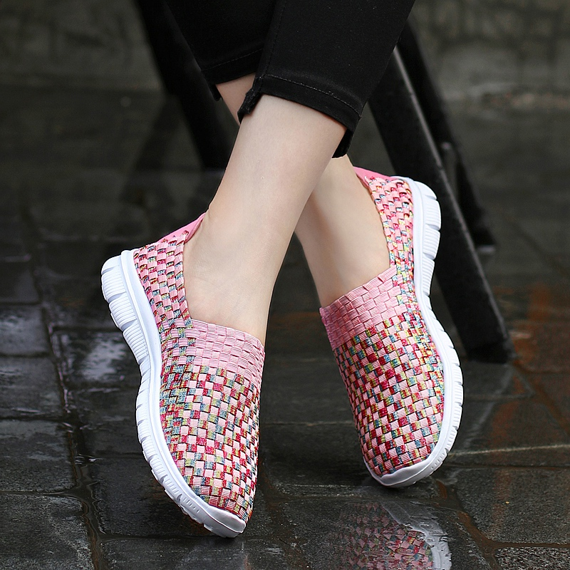 Poletni čevlji modni ženski ročno tkanje Ženska priložnostna - Ženski čevlji