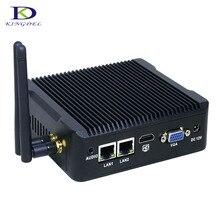Заводская цена безвентиляторный мини-промышленный компьютер Celeron J1900 Quad Core VGA HDMI 2 * lan 2 * COM Поддержка Linux/Windows 7 micro pc