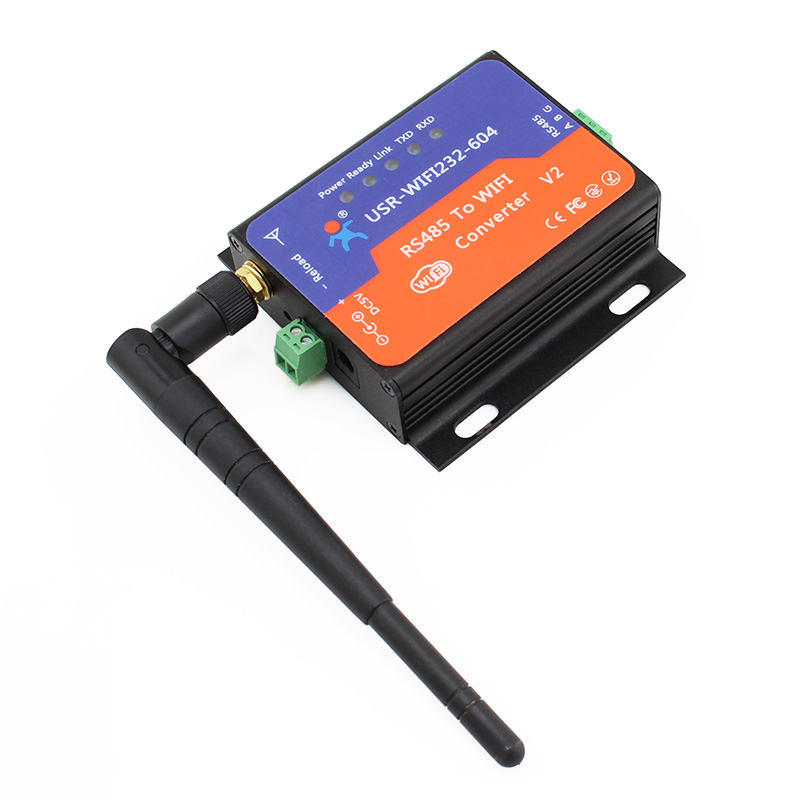 USR-WIFI232-604 Wifi Converter Serial RS485 to Wifi 802.11 b/g/n Server Converter Module Support DHCP CE FCC Q00197