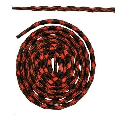 Нескользящие круглые шнурки для альпинизма разные цвета 120 см/47 дюймов - Цвет: Brown and orange