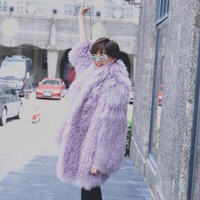 Взлетно посадочной полосы дизайн Европейский Русский стиль женская утепленная реальная Монголии овечьей шерстью пальто высокого качества