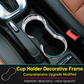 ABS Chrome trim FOR OPEL VAUXHALL MOKKA BUICK ENCORE 2013 2014 2015 Center Console Cup Holder ,fit opel mokka car styling