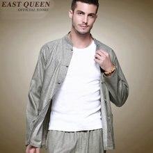 Chinese traditional clothes for men Long Sleeve shirt set tang suit mandarin collar reversible jacket KK516