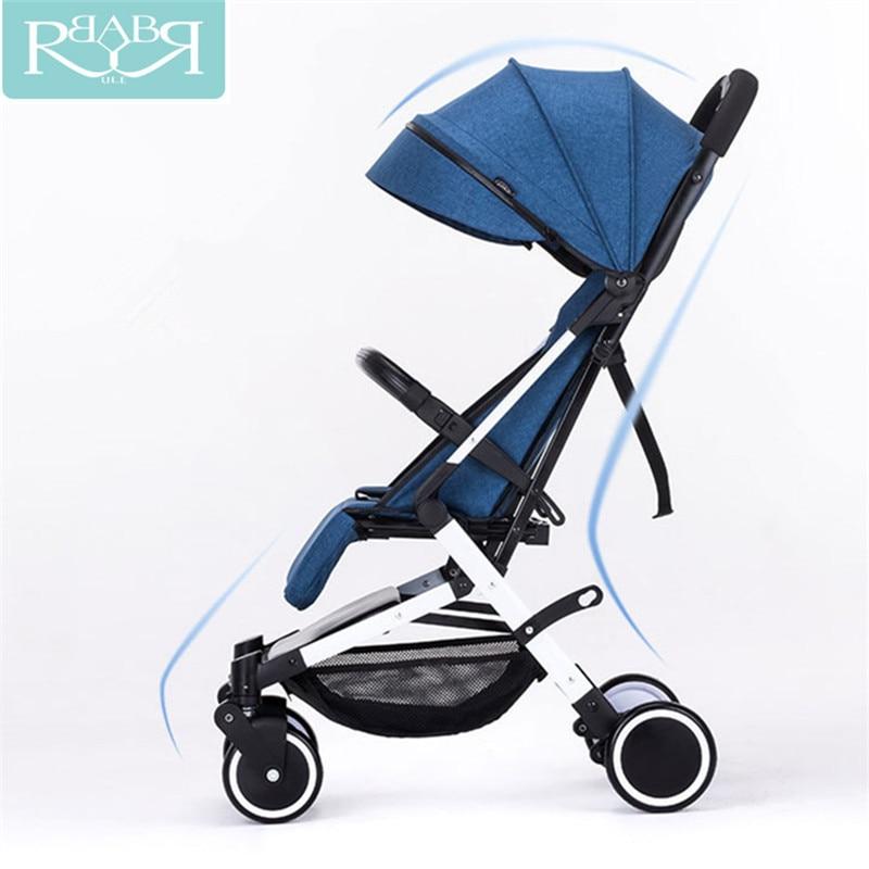 Babyruler Portable Baby Stroller Lightweight Folding Umbrella Stroller Baby Carriages Car Can Sit Can Lie pram bebek arabasi цена
