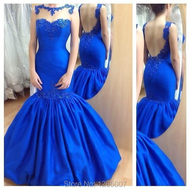 Popular Royal Blue Fitted Prom Dress-Buy Cheap Royal Blue Fitted ...