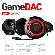 PLEXTONE G600 GameDAC Gaming Headphone casque Stereo PC Headset Wired USB Gamer Headphones with Microphone for computer laptop somic g926 wired earphone usb gaming headset stereo headphone with microphone for computer pc gamer