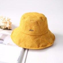 2019 Soft Flat hats Bucket Hat Women Outdoor Sports Hip Hop Cap Casual Yellow Color Summer Sun Hat Cotton Fishman Panama панама anteater panama fishman