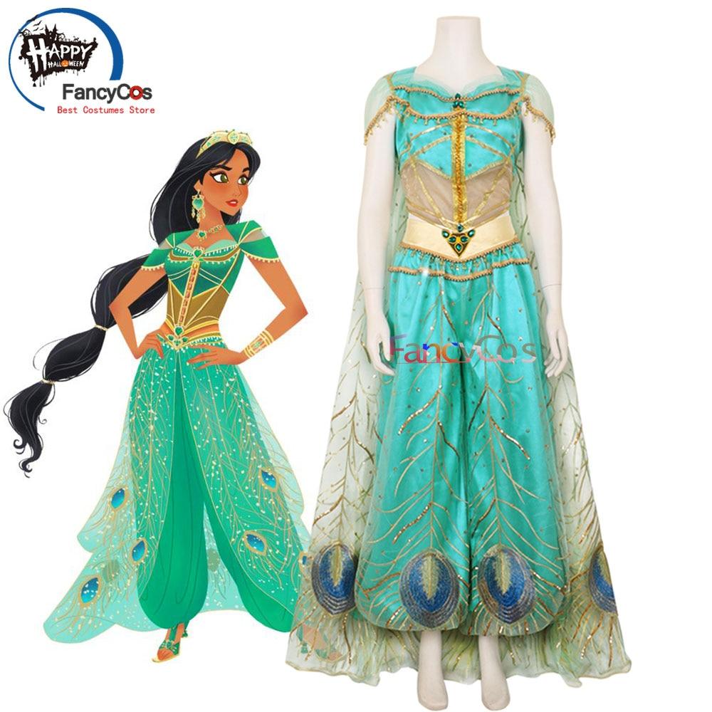 Princess Dress Size 2 Halloween or Play with Princess Crown Option Perfect for Jasmine Birthday Party Princess Jasmine Costume