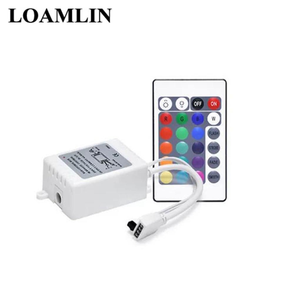 12V 24Key LED Light With RGB Controller Mini 24Key DC12V Infrared Remote Control For 3528/2835/5050 LED Light Bar RGB