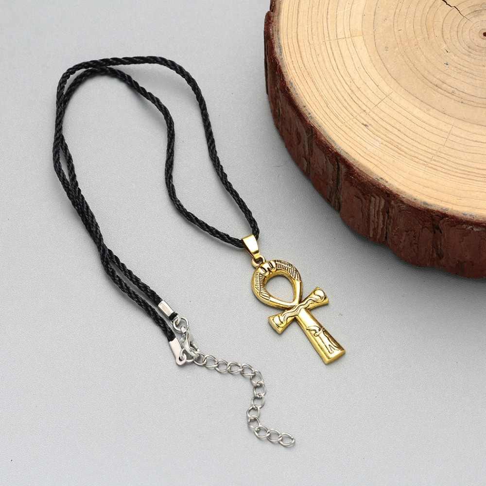 CHENGXUN Vintage Viking or Ankh croix collier antique egypte Bijoux unisexe slave Unique collier fête anniversaire cadeau Bijoux