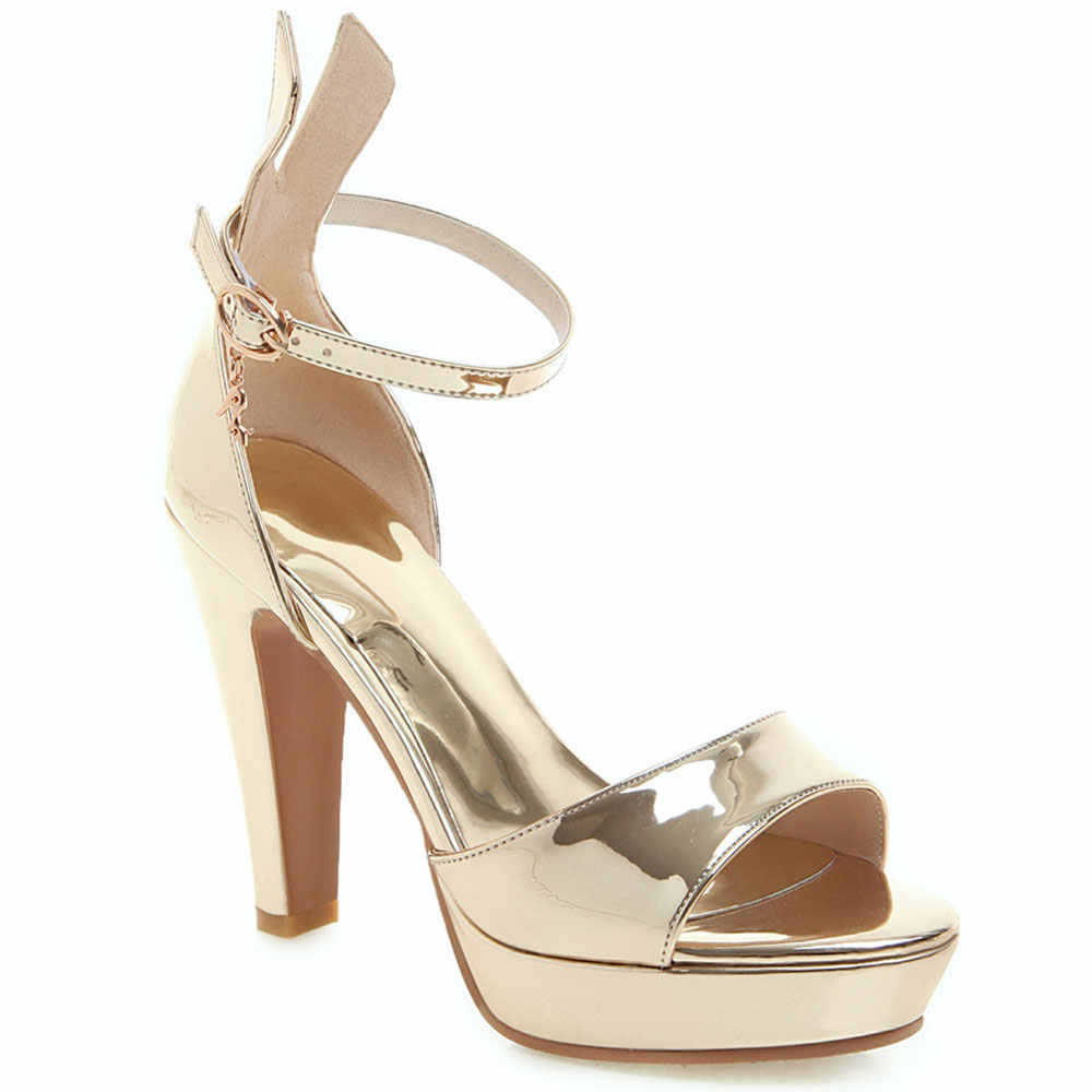 Sandalias de gladiador Lasyarrow para mujer zapatos de plataforma de fiesta zapatos de tacón alto grueso para mujer verano J824