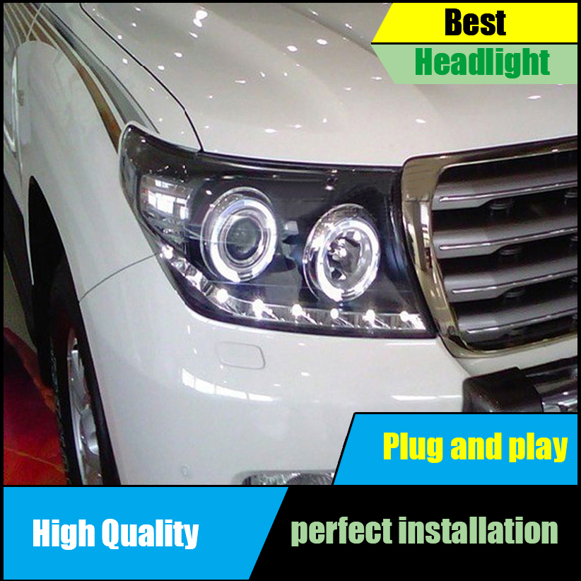 Car Styling Headlights for 2008-2012-2015 Land Cruiser LC200 Headlight Assembly LED DRL Double Beam H7 HID Xenon Car Accessories