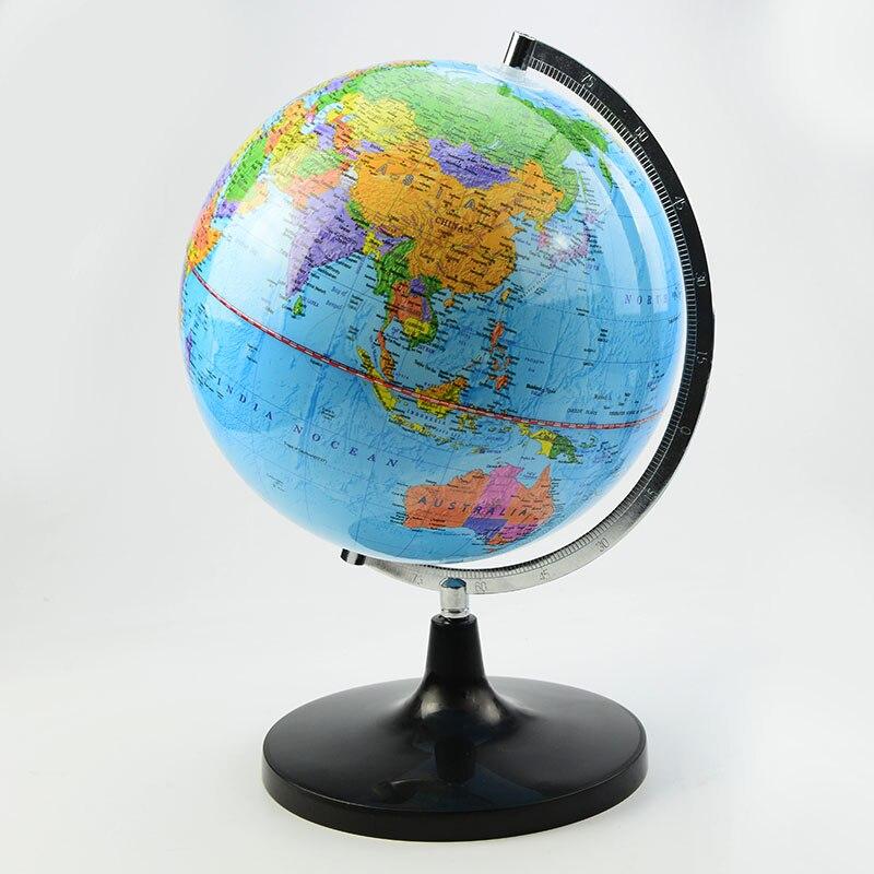 Dia 25 cm PVC Monde Terre Terrestre Globe Tellurion Avec Monture Métallique Pour Enseignement Cadeau pour L'éducation Des Élèves