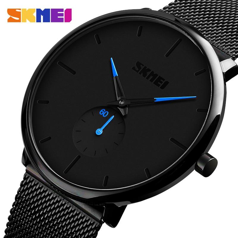 SKMEI Fashion Men Watch Quartz Wristwatches Women Watches 30M Waterproof Big Dial Display Quartz Watch Relogio Masculino 9185