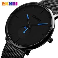 SKMEI Fashion Men Watch Quartz Wristwatches Women Watches 30M Waterproof Big Dial Display Quartz Watch relogio masculino 9185|Relojes de cuarzo| |  -