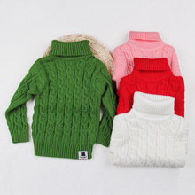 Knitted Pullover kids Sweaters Coat Winter Warm Classic Twist Turtleneck Sweaters for Girls Boys Warm Kids Knitwear Clothing