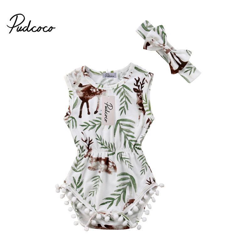 Bodysuits & One-pieces Mother & Kids 2018 Fashion Kids Newborn Baby Girl Clothes Flower Bodysuits Jumpsuit Playsuit Summer Sunsuit Outfits 0-24m Be Friendly In Use