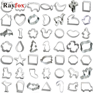 30styles Cookie Cutters Tools Fondant Biscuit Cutter Mold Pastry Cake Forms Gingerbread House Christmas Baking Decorating Tools