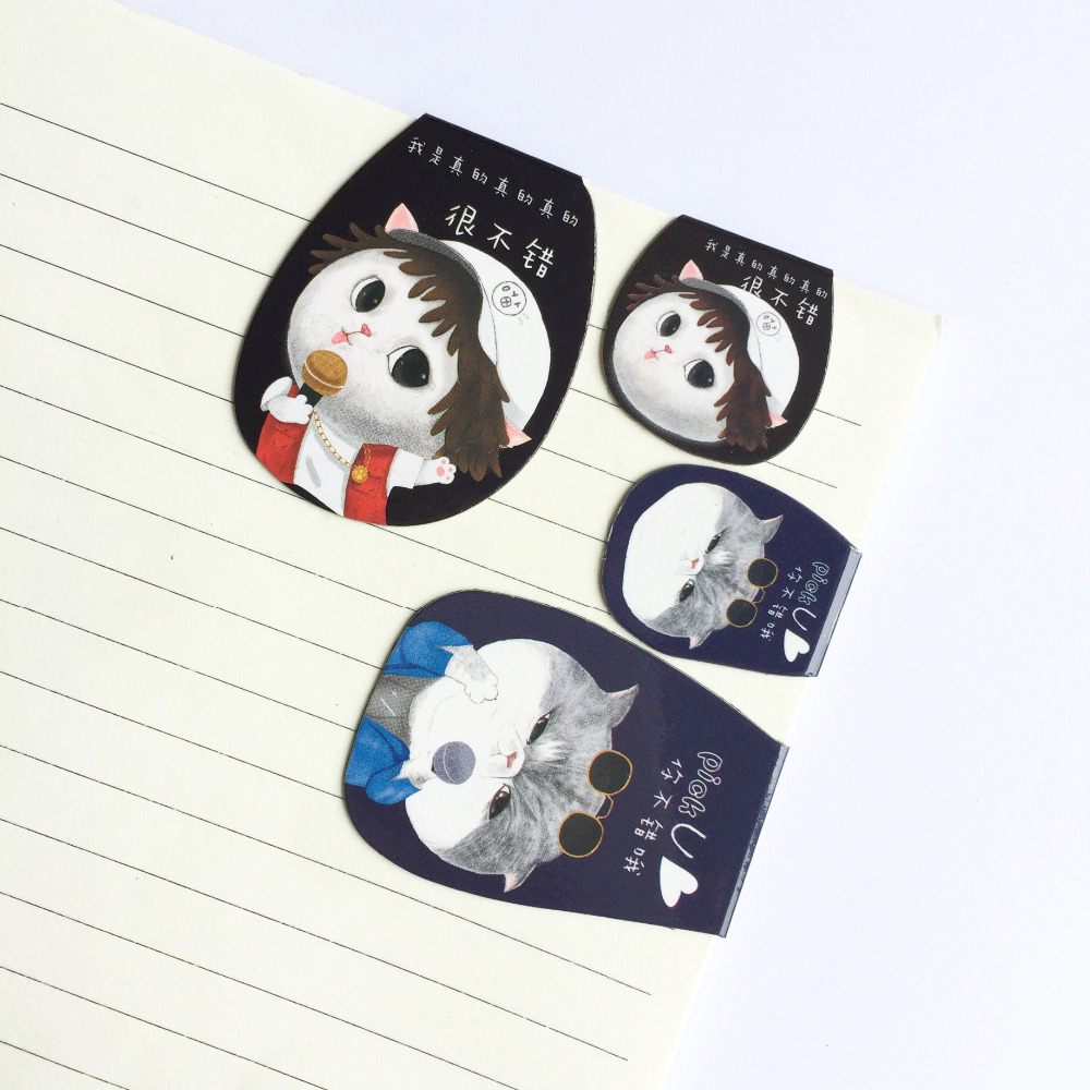 2pcs/Set Kawaii Cat Meow Magnetic Bookmarks Books Marker Of Page Stationery School Office Supply Student Prize