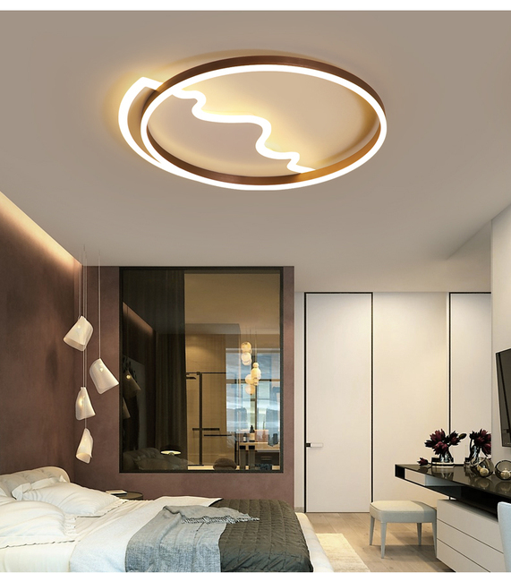 Modern Diy Led Ceiling Light For Living Room Bedroom Remote Controlling Lamps Hote Luminaria Tech
