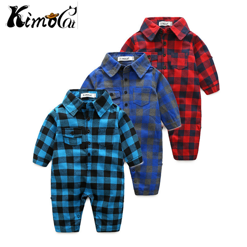 Kimocat Newborn Gentleman baby boys spring baby   Rompers   soft Baby Boys   romper   warm fleece Baby Jumpsuit for kids boys Costumes