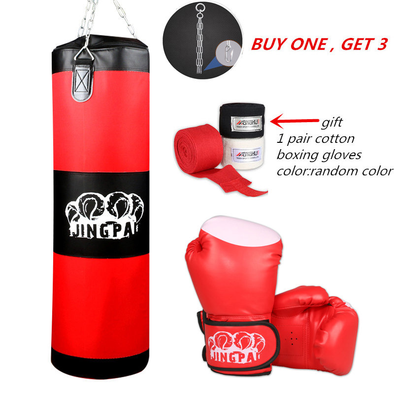 2016New Canvas sandbag child adult MMA kickBoxing Punching bag heavy duty Grappling fighting boxing gloves suit Empty punch bags adult thick boxing gloves mma gloves half finger sanda taekwondo fight mma sandbag glove professional training equipment
