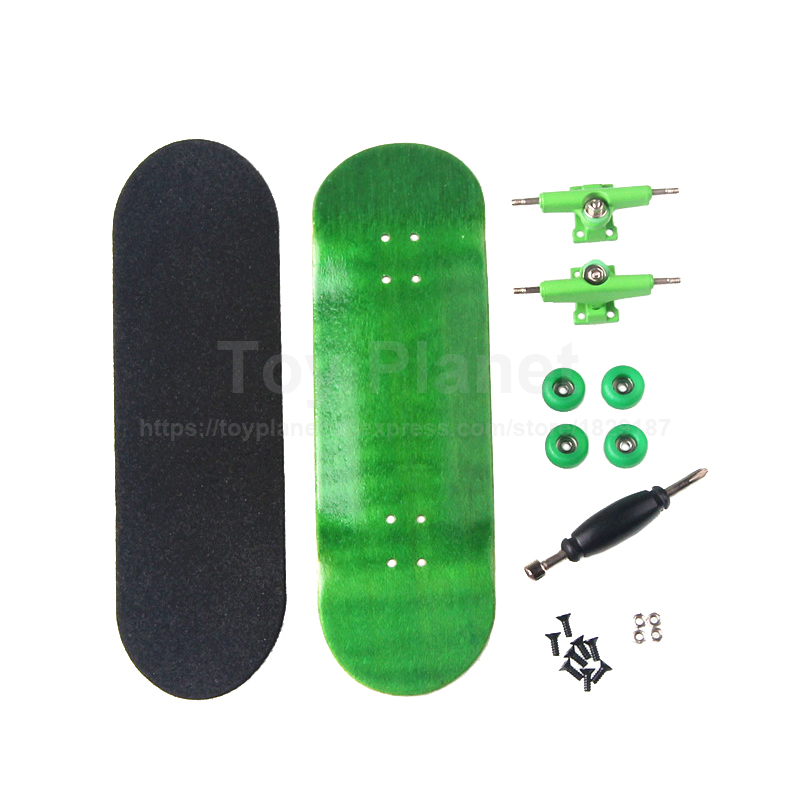 Canadian Maple Green Professional Wood Finger Skate Fingerboards Finger Skateboard Birthday Gift Finger Boards Nickel Bearing
