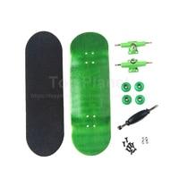 Canadian Maple Green Professional Wood Finger Skate Fingerboards Finger Skateboard Birthday Gift Finger Boards Nickel Bearing
