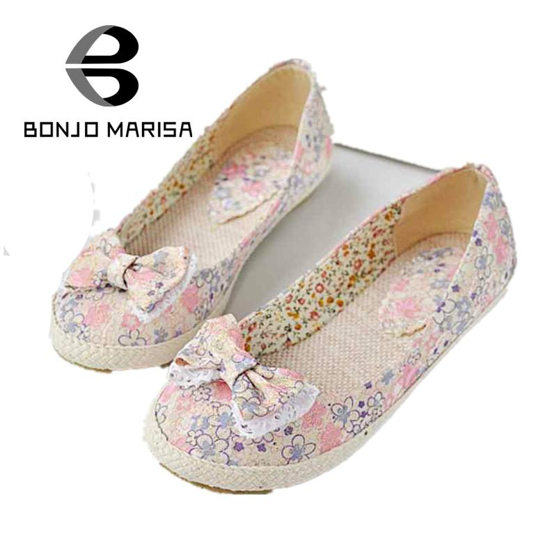 Plus Size 34-43 Flat Shoes For Women, Women's Summer Casual Dress Sweet Bowtie Denim Cool Fabric Summer Casual Shoes Flats plus size 34 41 black khaki lace bow flats shoes for womens ds219 fashion round toe bowtie sweet spring summer fall flats shoes