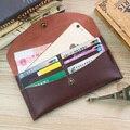 Soft Leather Smooth Female Credit Card Holder Clutch Wallets Purses Bag Envelope Flower Clasp Vintage Design Handbag For Womans