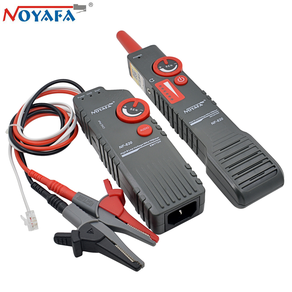 Original Noyafa NF 820 Cable Tester High Low Voltage Anti Interference Undergorund Ceiling Wall Metal RJ11