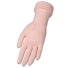 Professional Soft Flexible Silicone Practice Hand Prosthetic Nail Art Training Display Model Hands Nail Personal Manicure Tools