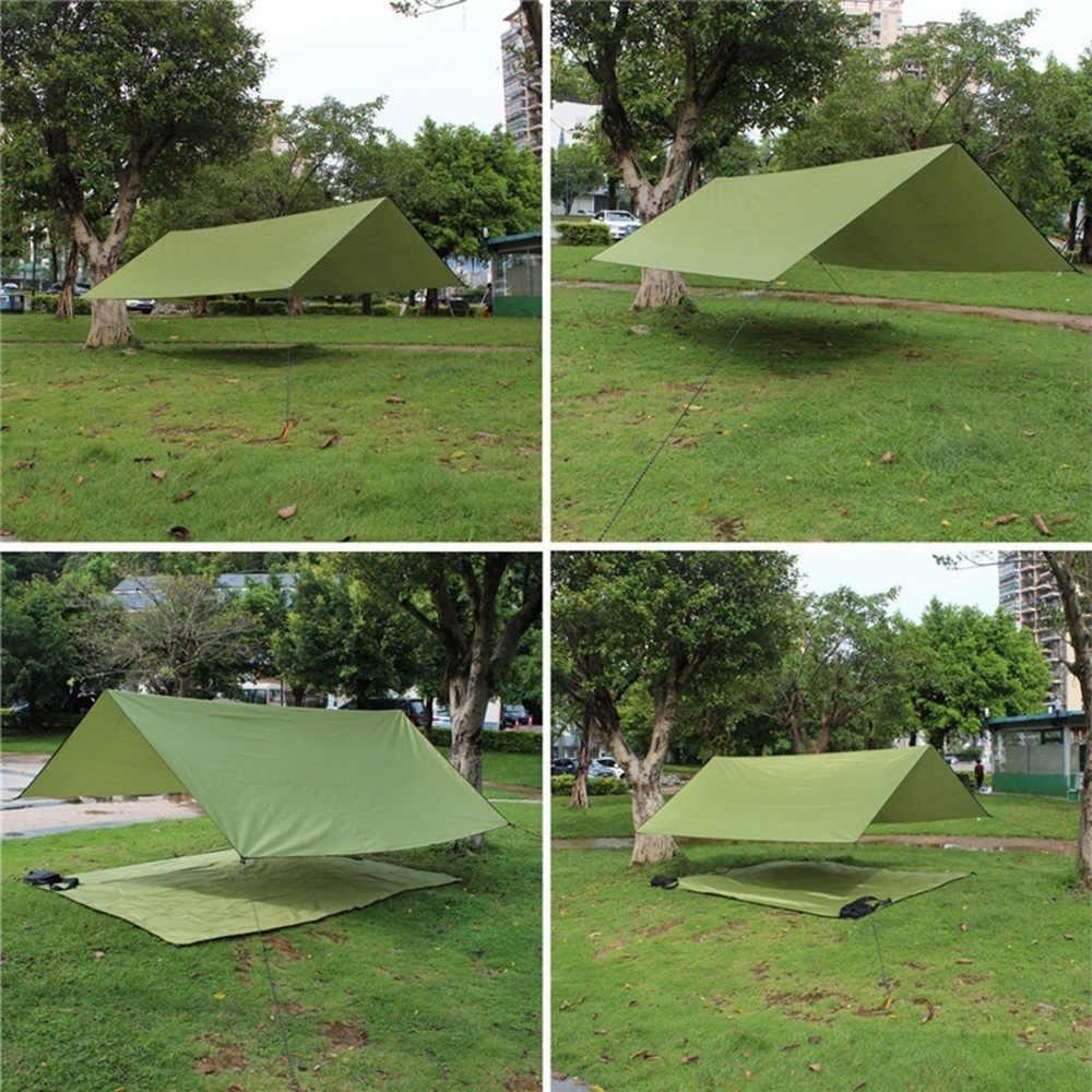 للماء في الهواء الطلق التخييم حصيرة الشاطئ فراش للتنزه طوي تغطي الأرض سادة الطابق قماش القنب خيمة البصمة (الأخضر 100*150)