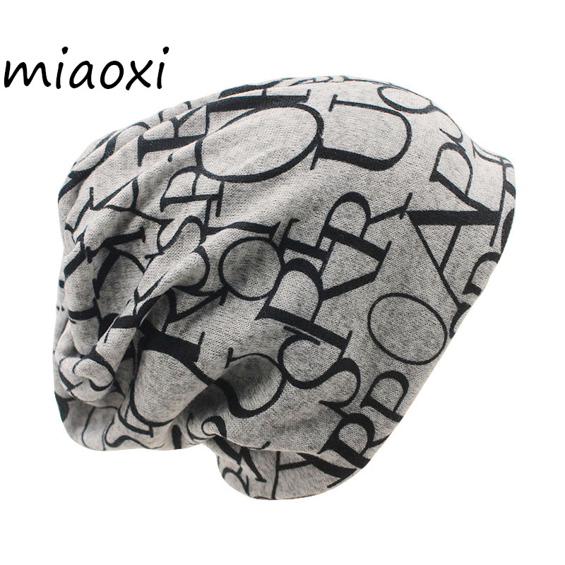 miaoxi Women Autumn Hat Two Used Caps Knitted Scarf Adult Unisex Casual Letter Beanies Warm Autumn Beauty Skullies Hat Girl Cap 2017 letter 2018 beauty hat for women knitted cap autumn winter warm skullies beanies empty hat scarf two use 3 colors 8404