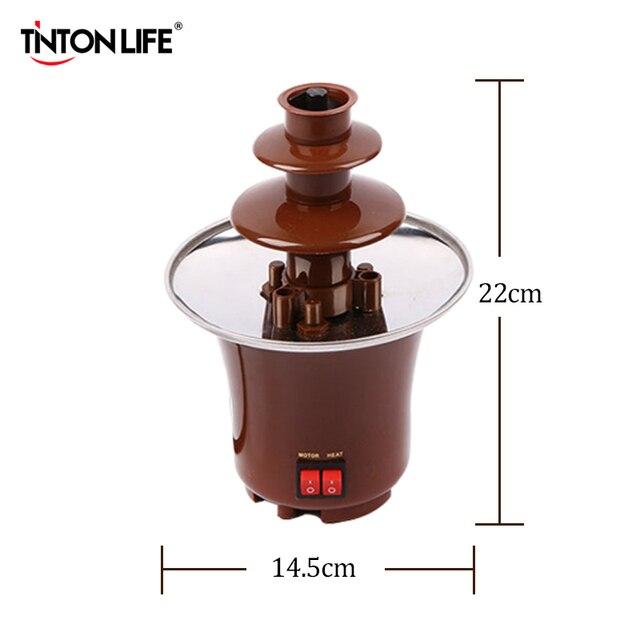TINTON LIFE New Mini Chocolate Fountain Creative Design Chocolate Melt With Heating Fondue Machine Chocolate Fountains