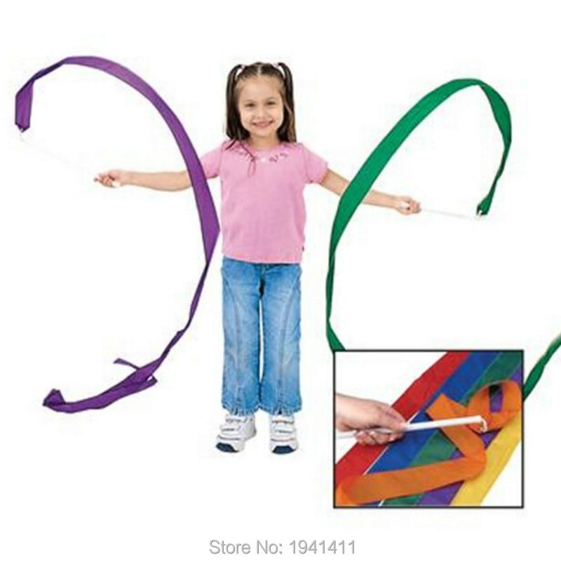 4pcs set colorful dance ribbon Ribbon Colored ribbon Rhythmic Gymnastics children s toys