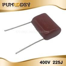 10 piezas 400V225J 2,2 UF Pitch 20M 225J400V 225 400V 2200PF CBB condensador de película de polipropileno