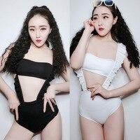 Neue Jazz Dance Kostüm Frauen Sexy Kleidung Nachtclub Sängerin Party Bikini Anzug GoGo Tänzerin Leistung Kleidung DQL808 auf